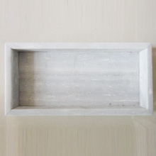White Rectangle Marble Vanity Tray