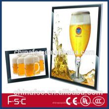 Display ultra slim magnetic led advertising walk board light box