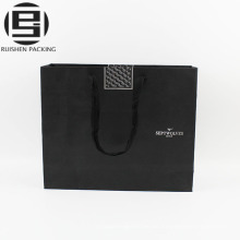 Schwarz Kraftpapier Taschen Seil Griffe