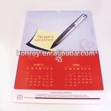 Hochwertiger kundenspezifischer gedruckter neuer Designwandkalender