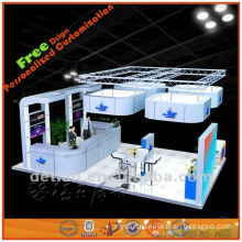 portable and light exhibition booth design for trade fair show