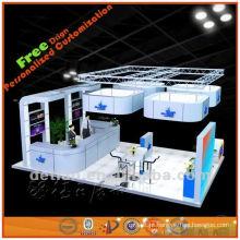 design de cabine de exposição portátil e leve para feira de comércio