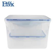EASYLOCK Contenedor de almacenamiento de alimentos de plástico con embalaje retráctil