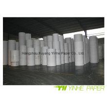 Papier cartonné duplex blanc couché de qualité supérieure avec dos gris