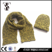 Hot sale acrylic reverse knit scarf wholesale china with hat