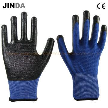Nitrile Coated Zebra-Stripe Working Safety Gloves (U205)