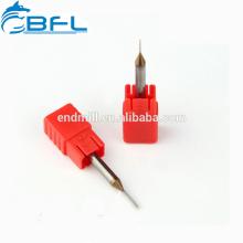 Fraise en bout miniature miniature de diamètre de carbure BFL 0.1mm Altin enduite