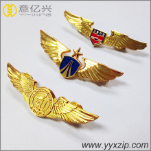 Custom air flight metal material lapel pins