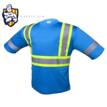 new products 100% polyester birdeyes crew neck safety reflective t-shirt with adult sports safety products