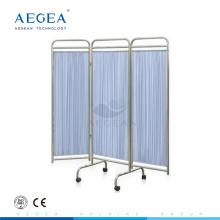 AG-SC002 Super billig faltbare Patientenuntersuchungszimmer Krankenhausbett Bildschirm auf Rädern