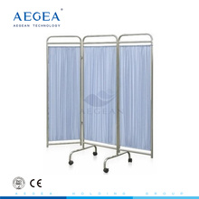 AG-SC002 Movable with wheels foldable medical room bed screen curtain