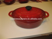 2015 Hot Sale Enamel Paint for Cookware Cast Iron Casserole in Red