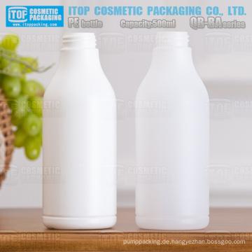 QB-BA500 32/410 Standardflaschen hart und recyclebar Hdpe rund 500ml Kunststoff-Flasche