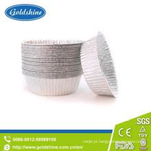 Bandeja redonda de folha de alumínio para uso alimentar e bandeja