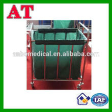 stianless steel trolley for waste metal waste bin castor
