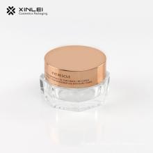 Pot acrylique cosmétique en forme d'octangle de 15 g