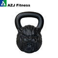 54 LB Lion Animal Face Kettlebell