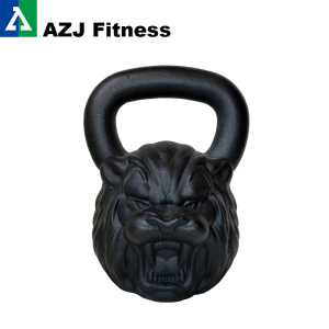 54 LB Lion Animal Rosto Kettlebell