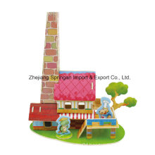 Wood Collectibles Toy for DIY Houses-Restaurant