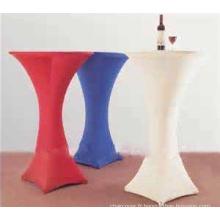 blanc spandex lycra ronde table de cocktail chiffon pour gros linge de table mariage
