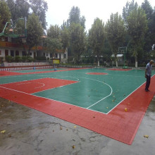 Mini basketball court/futsal court construction line paint