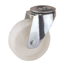 Bolt Hole Mounting Type White PP Wheel Industrial Caster (KIXX6-W)