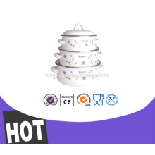 New product 3 pcs Enamelware Casserole 3 inch clay cooking pot