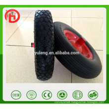 hot popular pu wheel , metal rim pu wheel for wheelbarrow five model can choose