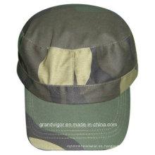 Sombrero militar de algodón liso con hebilla de metal