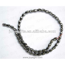 """5x8MM Loose Magnetic Hematite 6Faced Twist Beads 16 """""""