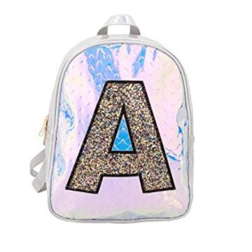 GLITTER A PATTERN LASER BACKPACK-0