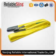 Ce Polyester Flat Yellow Lifting Belt Crane 3 Ton