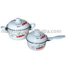 Porcelain Enamel Cooking Pot and Pan Pot