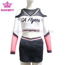 Crop Top Filles Costume Pom-Pom Girl Dos Nu