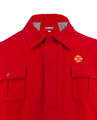 Qualified Man's Red Uniform