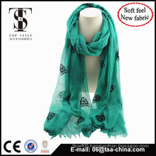2015 New design with new fabric blended material soft feel scarf