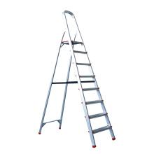 Escalera plegable de aluminio usada de 7 pasos con asa