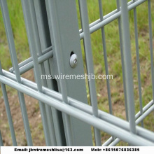 868/656 Panel pagar dawai bersalut Double Wire Mesh