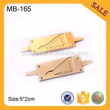 MB165 gravure de plaques de Chine, logo de marque de métal, logos personnalisés sur marque de plaques métalliques
