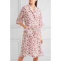 Nuevo estilo de seda impresa manga tres cuartos Midi verano vestido diario Fabricación venta al por mayor ropa de mujer de moda (TA0029D)