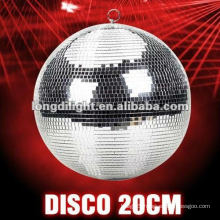 "8"" MIRROR DISCO BALL SILVER CHRISTMAS PARTY DECORATION GLITTER"