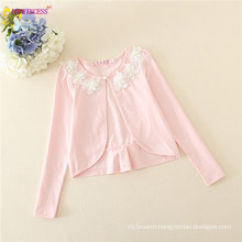 Baby Girl Appliqued Long Sleeves Tops European Style Tippets Of Decorative Bows