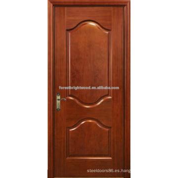 Dos Panel acabado chapado roble puertas de talla