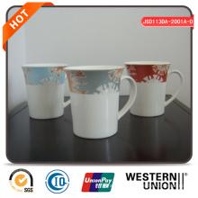 Coffee Mug Set with Flower Design