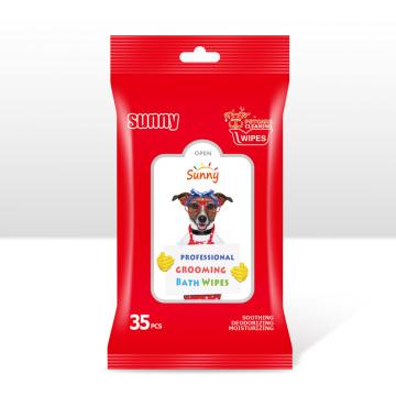 Lingettes nettoyantes pour chien