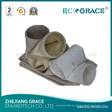 Saco de filtro industrial da poeira do poliéster de pano de óleo