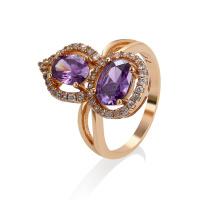 Jóia da forma de 11514 Xuping Jewelry, anel de dedo chapeado do ouro novo do projeto 18K
