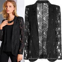 Хорошее качество мода Sexy кружева Выдалбливают женщины пальто (50016)
