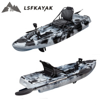 LSF wholesale 8ft  foot pedal kayak with seat and fishing accessories