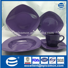 Popular OEM dinnerware, cor sólida vidrada Porcelana conjunto de louça